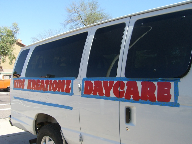 Kidz Kreationz Daycare van remod (DURING)